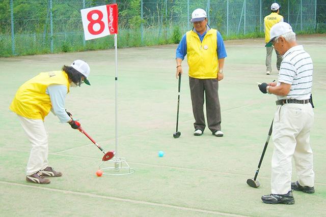 秩父のおじいちゃんおばあちゃんとグラウンドゴルフ大会!
